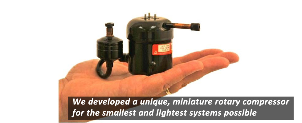 Rotary Compressor for Vapor Compression Cooling